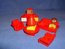 Lego Duplo  Spielhaus - Einrichtung -Wohnzimmer mit 1 Männchen **