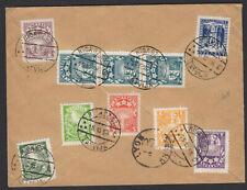 LETTONIE : Enveloppe Recommandée Affrt à 10 timbre Oblt CàDate RIGA DZ ST LATWIJ