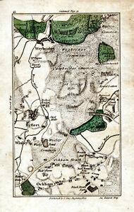 Map John Cary 1790 Weybridge, Byfleet, Wisley, Ockham  Photo print Canvas