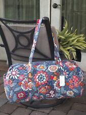 VERA BRADLEY LARGE TRAVELER DUFFEL BAG TROPICAL EVENING OVERNIGHT TOTE GREY $99