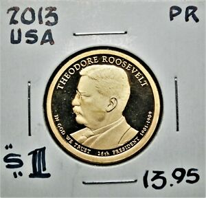 Theodore Roosevelt - 2013-s United States Presidential Proof Dollar