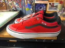 Vans TNT Advanced Prototype Racing Red/White Suede Size US 13 Men  VN0A3TJXR30