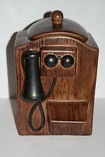 CERAMIC COOKIE JAR OLD WALL PHONE