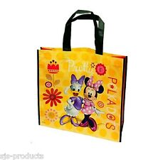 Disney Minnie Mouse Daisy Duck Reusable Woven Tote Shopping Bag Yellow