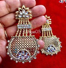 Jhumka Indian Earrings Jhumki Kundan Polki Jewelry Bollywood Pearl Set USA