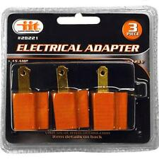 IIT 3pc Electrical Grounding Adapter Plug 15AMP 125 Volts 2 to 3 Prong 28221
