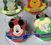 Crest Collection 2012 Hidden Mickey Series Set DLR Choose a Disney Pin