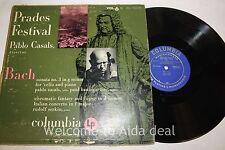 """Pablo Casals - Bach: Prades Festival, Pablo Casals Vol. 6  LP (ACC) 12"""""""