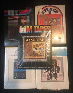 8 track tape lot vintage 70s 5 BRAND NEW SEALED tapes 3- Chuck Mangione