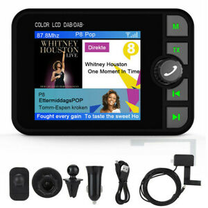 "2.4"" In-Car DAB DAB+ Digital Radio Adapter with Handsfree Calling FM Transmitter"