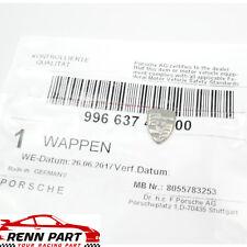 Genuine Porsche Key Fob Replacement Silver Crest Small Emblem Logo 1980-2001