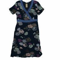 Jackpot Women's Midi Dress 12 Blue, 100% - viscose