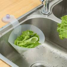 Clear Kitchen Sink Strainer Filter Drain Food Catcher Foldable Anti-Blocking UK