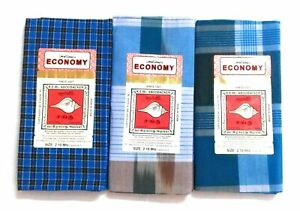 Lungies for Men (Multicolour, Pattern may vary) - Pack of 3