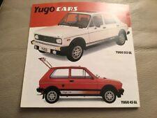 Yugo Cars Car Brochure - c 1983