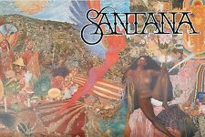 "Music Poster~Santana Abraxas Cover 24x36"" 1980's Black Magic Woman Nos Vintage~"