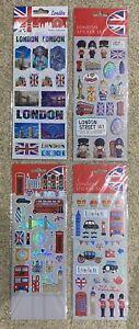 LONDON VARIOUS SIGHTS STICKER PACKS - 4 Various Options