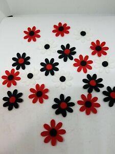 FELT FLOWER DAISY EMBELLISHMENTS DIE CUT SHAPES sewing applique headband