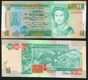 Belize 1$ 1990.05.01. Queen Elizabeth II & Marine Life of Belize P51 aUNC