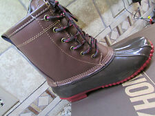 NEW KHOMBU LETTY DUCK WINTER BOOTS WOMENS 7 BROWN RED WATERPROOF INSULATED