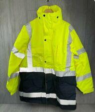 Waste Management Jacket SIZE L Neon W/reflective