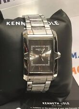 Kenneth Cole New York 30x35mm Men's Steel Rose Gold Numerals Watch 10031342 NEW