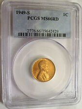 Lot of One PCGS-Certified, MS66 Red, 1949-S Lincoln Cent Coin