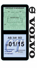 Porte vignette assurance VOLVO double étui voiture Stickers auto rétro