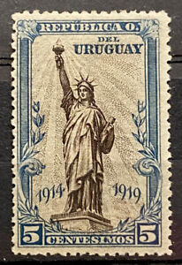 URUGUAY - STATUE OF LIBERTY 1914 1919 - MH STAMP