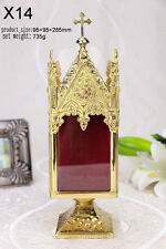 """+Brass monstrance Reliquary  for Church or home+relic+gift+Nice! 11.22""""H X14"""