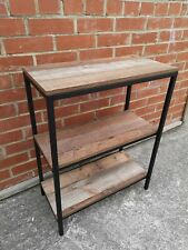 Industrial Chic Low 3 Tier Shelving Unit Bookcase Retro Metal Display Shelves