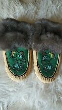 THE MASTER MABEL PIKE!!!! ALASKAN HANDMADE MOCCASINS MUSEUM QUALITY!..AMAZING!!!