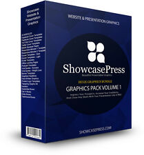 ShowcasePress Graphic Image Pack | Website Templates Presentations Flyers Design