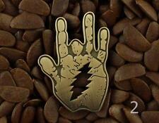 Grateful Dead Pins Jerry Garcia Hand Pin Lighting Bolt  Badge NO2