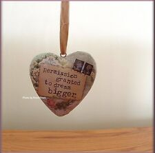 DREAM BIGGER BOXED HEART ORNAMENT BY KELLY RAE ROBERTS FREE U.S. SHIPPING