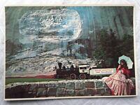 Postcard Stone Mountain, GA Train & Memorial Carving Pretty Southern Belle