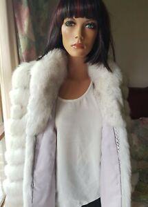 Vintage Genuine Shadow Blue Fox Fur Coat Jacket Stroller 10-12 Mint Condition