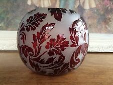 ANTIQUE RUBY RED ART NOUVEAU ACID ETCHED ROSE VASE DAUM?