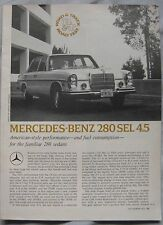 1971 Mercedes 280SEL Road & Track magazine Road test