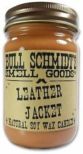 Bull Schmidts Leather Jacket Strongly Scented Hand Poured Vegan Candle, 12 Ounce