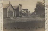 North Lawrence NY Main St. c1910 Real Photo Postcard