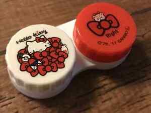Hello Kitty Sanrio Contact Lens Case CL Holder Storage