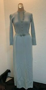 Vintage St John Knits Saks Fifth Avenue grey sweater dress size xs/s