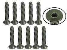 TS-FSM318S 3Racing M3 x 18 Titanium Flat Head Hex Socket - Self Tapping (10 Pcs)