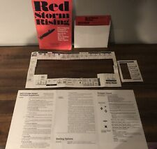 Commodore 64 & 128 Red Storm Rising 1988 w/ Keyboard Template Vintage Rare