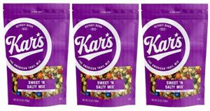 (Pack of 3) Kar's Nuts Sweet 'N Salty Trail Mix Snacks - 25 oz Resealable Pouch