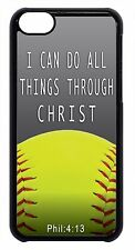 Softball Bible Verse Quote Christian Black/White Case Cover For Apple iPod 4 5 6