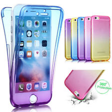 360 Degree Gradient Color Full Body Front Back Soft Clear TPU Case Phone Cover