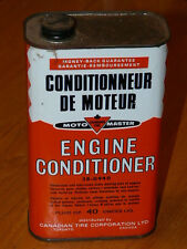 Vintage MotoMaster Canadian Tire Engine Conditioner 40 Fluid oz Empty Tin Can