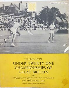 .1962 RARE TENNIS PROGRAMME FULL RESULTS UNDER 21 CHAMPIONSHIPS OF GREAT BRITAIN